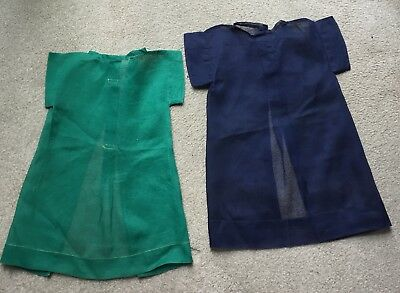 Two Authentic Antique Amish  Girl's  Organdy Aprons for  Church