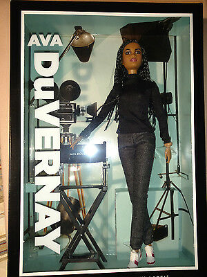 Ava DuVernay Barbie® Doll Platinum Label Designed by Linda Kyaw 2015