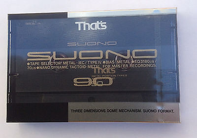 That's SUONO 90 Blank Metal audio Cassette - New and sealed
