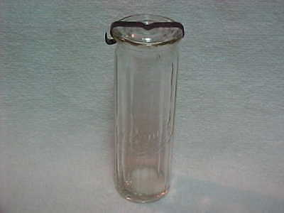 "Original Vintage 6"" Bunte Candy Jar Bottle With Lid Chicago"