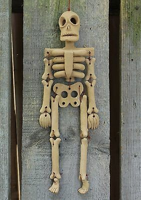 Articulated Clay Skeleton, Hand Made Atzompa, Mexico  Day of the Dead, Muertos