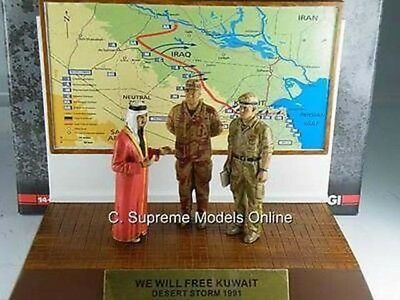 Desert Storm Generals Schwarzkopf & De Billiere King Fahd 1/32Nd Issue K8967Q~#~