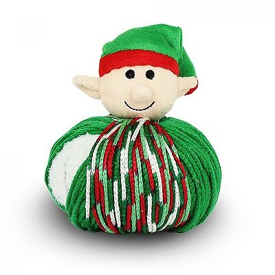 TOP THIS! ELF YARN KIT, Knit a Hat and Top it with a Plush Elf Ball! NEW