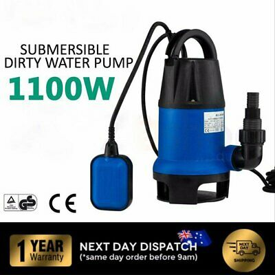 Submersible Dirty Water Sump Pump 1100W - Grey Water Sewage Sullage AU