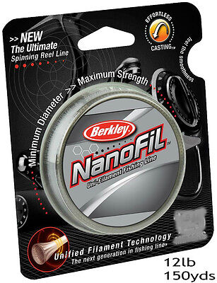 BERKLEY NANOFIL 12lb 150yds uni-filament technology line - CLEAR MIST