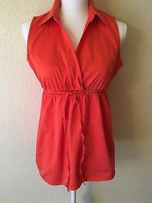 Motherhood Maternity Women's Coral Sleeveless Top Lightweight Shirt Size L Large