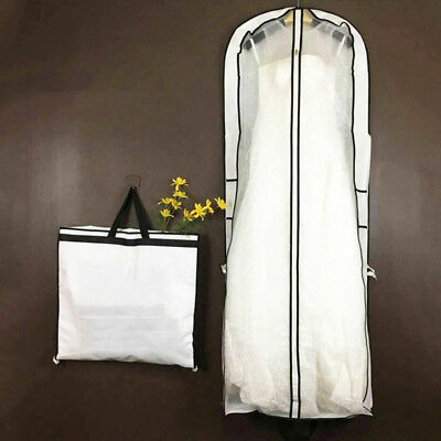 1X 160*59*10cm Wedding Dress Bridal Gown Garment Anti-Dust Storage Cover Bag SFW