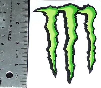 "(FREE SHIPPING) Monster Energy Logo 4"" Vinyl Sticker Decal (FREE SHIPPING)"
