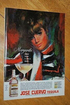 Jose Cuervo Tequila White or Gold Label 1966 Playboy Magazine ad - Very Good