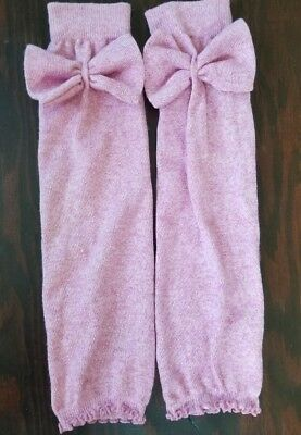 Soft Pale Pink Big Bow Leg Warmers one size fits all
