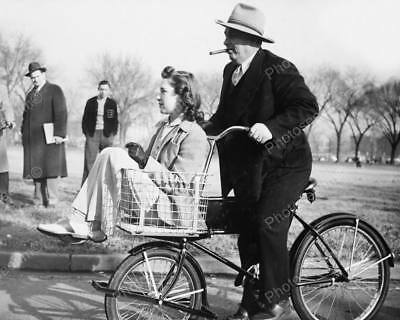 Chivalry On A Schwinn Cycle Truck Bicycle!  8x10 Reprint Of Old Photo