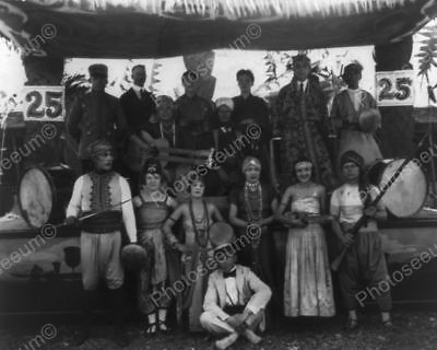 Carnival Performers Posed In Vintage 8x10 Reprint Of Old Photo