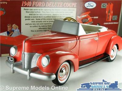 Ford Deluxe Coupe 1940 Car Model 1:24 Size Gearbox 69501 Pedal Car Red Usa K8