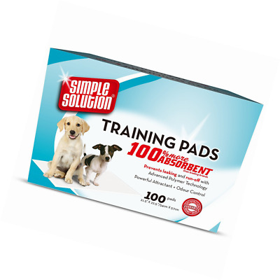 100 Pack Simple Solution Dog Training Pads Absorbent Urine Odour Neutralizers