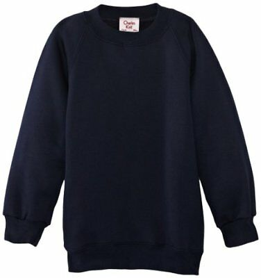 Blu C38 IN UK CHARLES KIRK COOLFLOW FELPA COLLETTO TONDO UNISEX (NAVY E) C38 IN