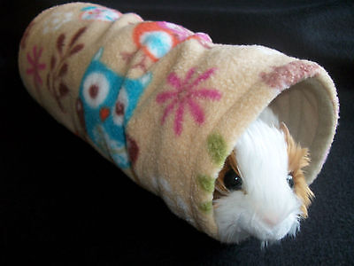 COZY PETS guinea pig tunnel bed house rat ,ferret ,fleece play,tube,toy WOODLAND
