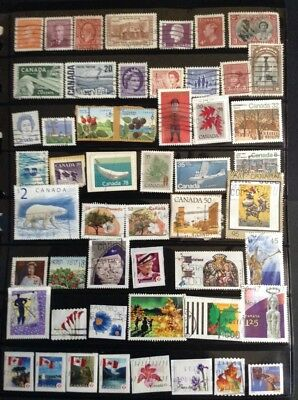 Canada used stamp selection GREAT VARIETY - Inc HV
