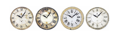 Wooden Wall Clocks Antique Effect French Word Round 28 cm Clocks Home Decor New