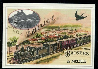 MELSELE   - train souvenir creation moderne - serie limitee numerotee