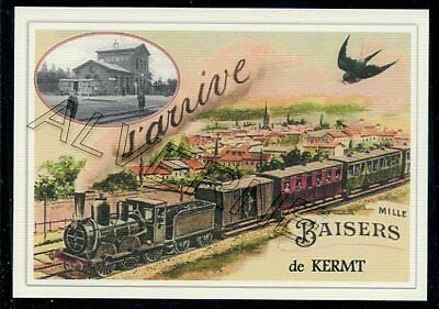 KERMT - ....  TRAIN...  souvenir creation moderne serie numerotee