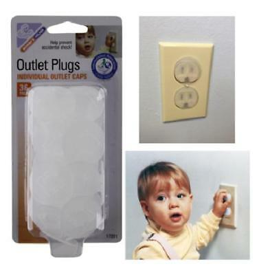 36 Pc Electrical Plug Covers Outlet Cap Key Cover Home Child Kids Baby Safety US