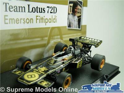 Emerson Fittipaldi Team Lotus 72D Car Model Formula 1 Racing 1:43 Size One T34Q