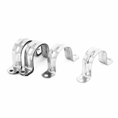 Rigid Conduit 2-Hole Pipe Straps Clips Clamps 8pcs for 40mm Dia Tube SS