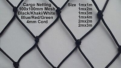 Cargo Net Strong Heavy Duty Netting Garden Car Van Truck Trailer Nets 4mm Cord