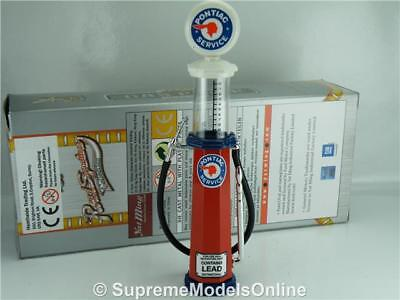 Pontiac Petrol Gas Pump Model 1/18Th Scale Visible Red/blue Example T3412Z(=)