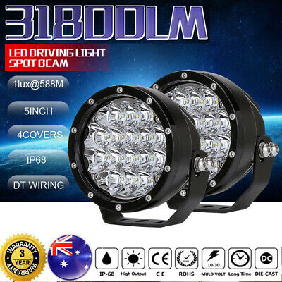 "2x5inch CREE LED Driving Work Light spotlights Offroad Lamp Round4WD Truck &9""7"""