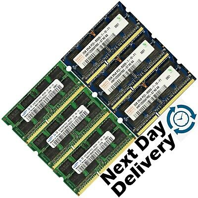 Memory RAM 4 Laptop Notebook PC3 8500 DDR3 1066 MHz 204 PIN CL7 SoDIMM 2x LOT GB