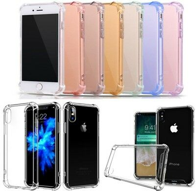 Case Clear Hybrid Slim Shockproof Soft TPU Bumper Cover For iPhone 6S 7 8 Plus X