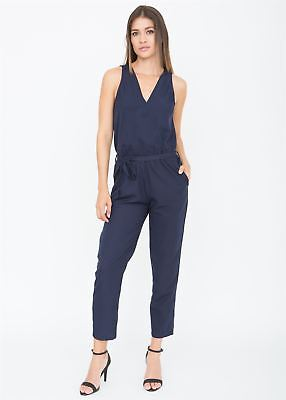Take Me Out Crossover Jumpsuit Blue