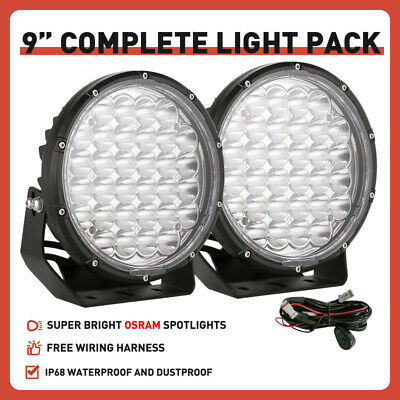 5inch 21600W Cree Led Driving Work lights Spot Round Black OffRoad 4x4 HID ATV