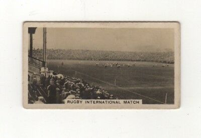 Cigarette card - Rugby Union at Murrayfield