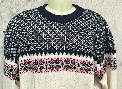 Vintage Bellini Wool Mix Retro Crewneck Nordic Knit Jumper To Fit Chest 100Cm