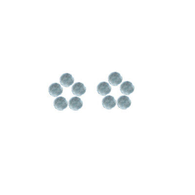 5x5mm 10pc AAA Quality Rose Cut Faceted Cabs Aquamarine Loose Gems