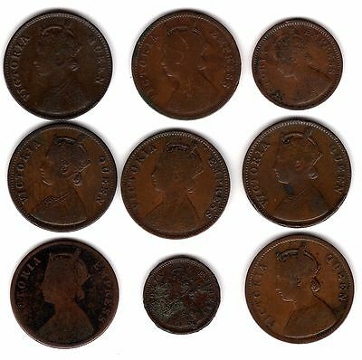 Collection Of British India Pice/Anna Coins***Collectors***(IN9)