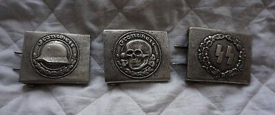 3 x german militaria belt buckle