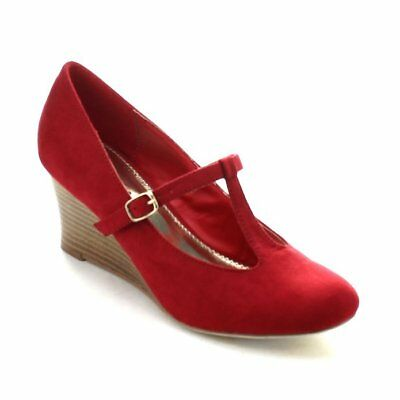 RED Mary Jane Mid Wedge Sandals by Stylux**Brand New**Make an Offer