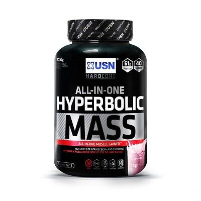 USN Iperbolica Massa 2kg Tutto in Unica Weight Gainer Proteine Polvere Agitare