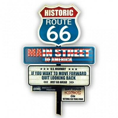 Metal Art Historic Route 66 40x62,5 placca in metallo flagstaff vintage - instan