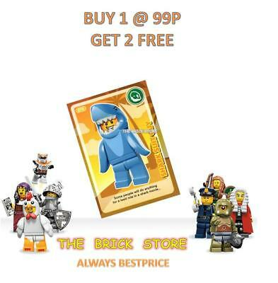 Lego #076 Shark Suit Guy  Create The World Trading Card - Bestprice + Gift - New