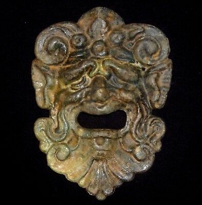 ROMAN Ancient Artifact - Bronze SATYR - THEATRICAL MASK Circa 200-400 AD   -4953