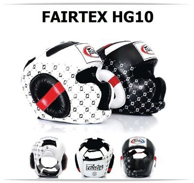 NEW Fairtex HG10 Boxing Headgear - Head Guard Sparring Gear MMA BEWARE OF FAKES