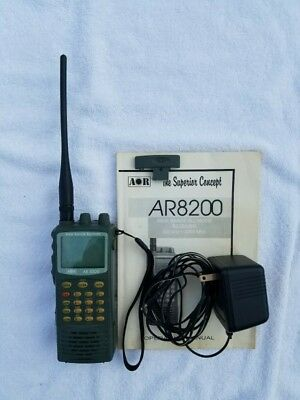 AOR AR8200 Wide Range w/ Originial Box, Power Source, Manual, Antenna