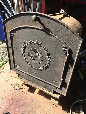 Vintage Cast Iron Bread Oven With Ornate Door