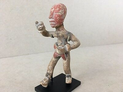 Pre-Columbian Teotihuacan III Early Classic Walking Figurine w/stand