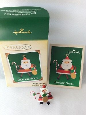 Hallmark 2005 Dancing Santa miniature ornament