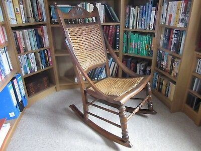 Victorian oak rocking chair
